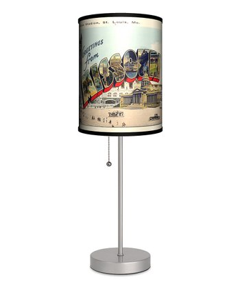Missouri Vintage Postcard Lamp