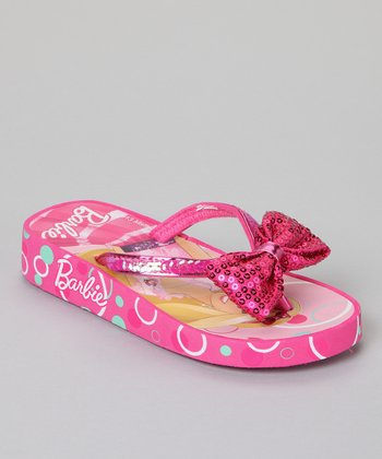 Pink Barbie Fashion Bow Sandals