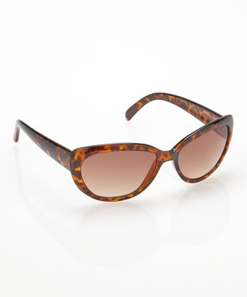 Tortoise Cat-Eye Sunglasses