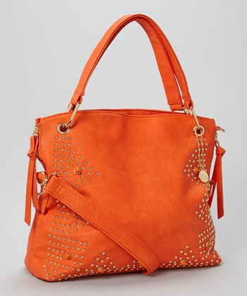 Orange Stud Crossbody Bag