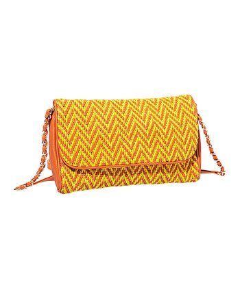 Yellow & Orange Zigzag Crossbody Bag