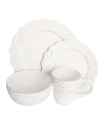 White Bianca Petals Dinnerware Set