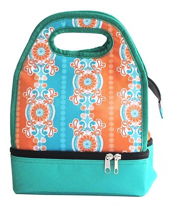 Aqua & Orange Luminaire Lunch Bag
