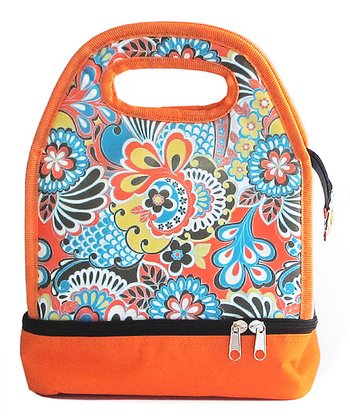 Orange Paisley Luminaire Lunch Bag