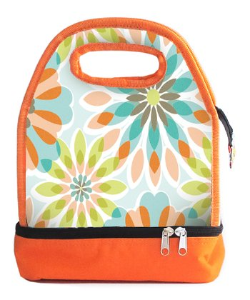 Orange Floral Luminaire Lunch Bag