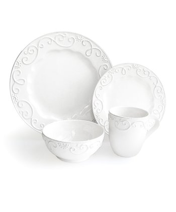 White Minna 16-Piece Dinnerware Set