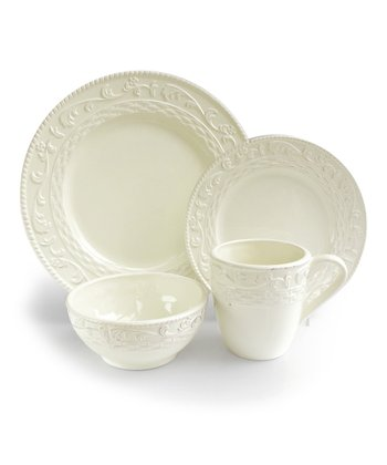 Cream Atria Dinnerware Set