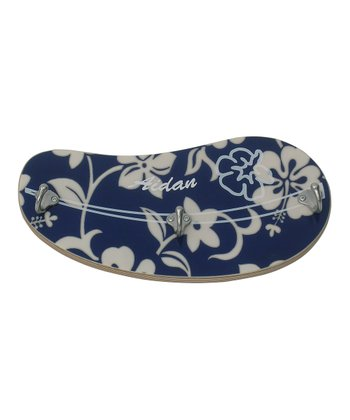 Navy Hibiscus Wall Hook