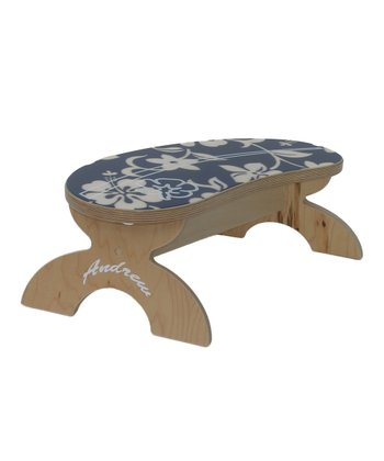 Blue Hibiscus Step Stool