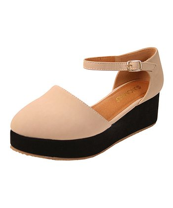 Nude & Black Sunset Platform Shoe