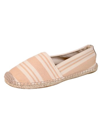 Natural Stripe Foxy Canvas Flat