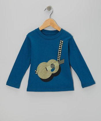 Galaxy Acoustic Guitar Organic Long-Sleeve Tee - Toddler & Boys