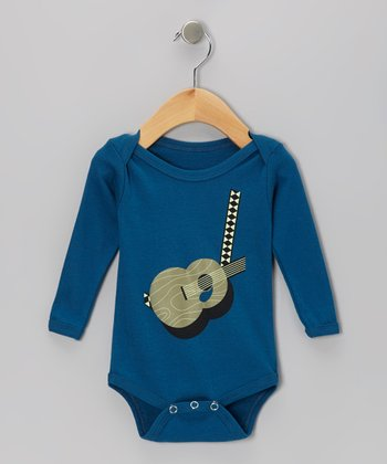 Galaxy Acoustic Guitar Organic Long-Sleeve Bodysuit - Infant