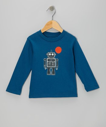 Galaxy Balloon Bot Organic Long-Sleeve Tee - Toddler & Kids