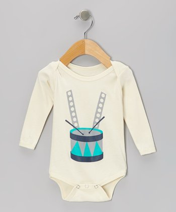 Natural Drums Organic Long-Sleeve Bodysuit - Infant