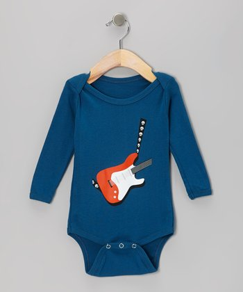 Galaxy Electric Guitar Organic Long-Sleeve Bodysuit - Infant