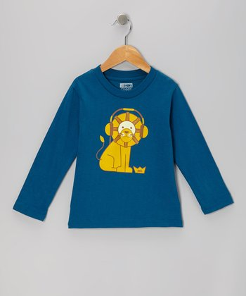 Galaxy Lion Headphones Organic Long Sleeve Tee - Toddler