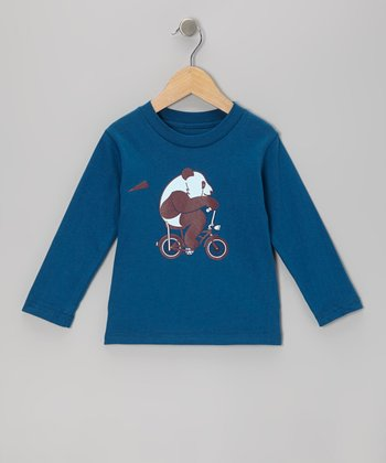 Galaxy Panda Rider Organic Long-Sleeve Tee - Toddler