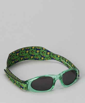 Green Frogs Sunglasses & Strap - Toddler & Kids