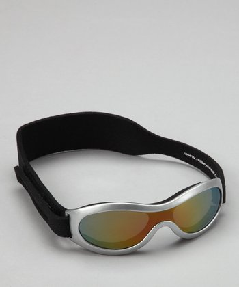 Silver Polarized Sunglasses & Strap - Toddler & Kids