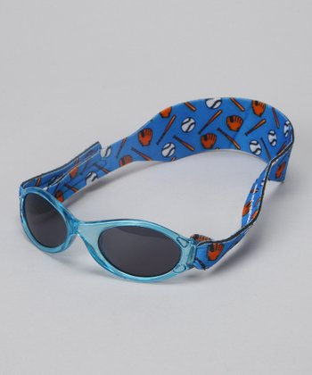 Blue Baseball Translucent Sunglasses