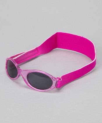 Pink & Fuchsia Translucent Sunglasses - Infant