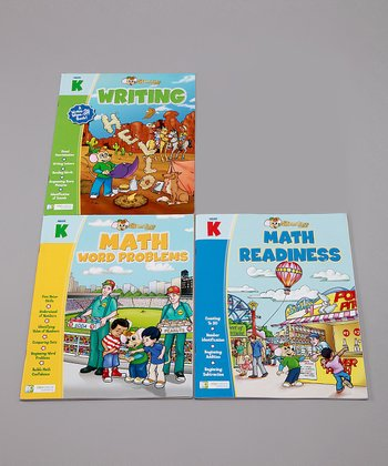 Kindergarten Math, Reading & Writing Workbook Set