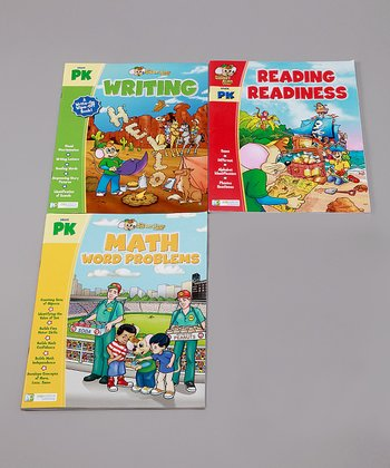 Pre-K Math & Writing Workbook Set