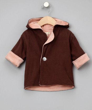 Brown & Rose Organic Corduroy Jacket - Infant