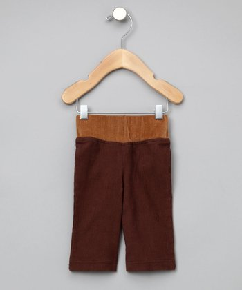 Brown & Camel Organic Corduroy Pants - Infant & Toddler