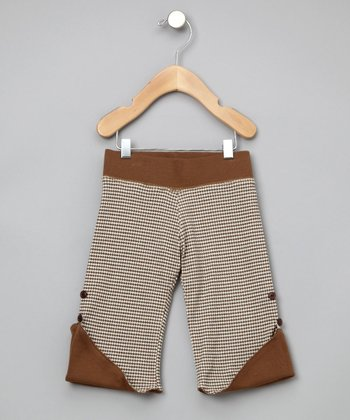 Bark Houndstooth Reversible Organic Pants - Infant