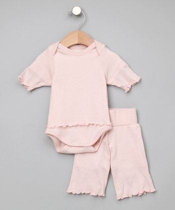 Pink Organic Yoga Pants & Bodysuit - Infant