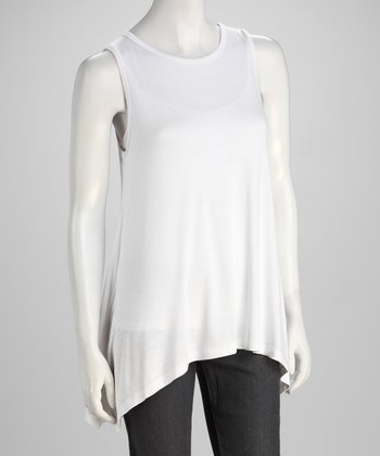 White Sidetail Tank - Women