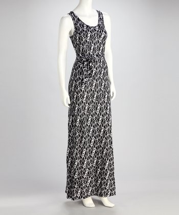Black & White Geo Maxi Dress - Women