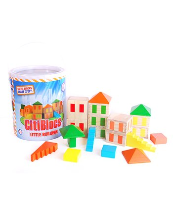 Little Builders Rattle Blocks Set