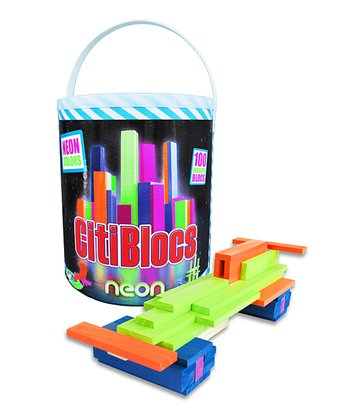 Neon Building Blocks Set
