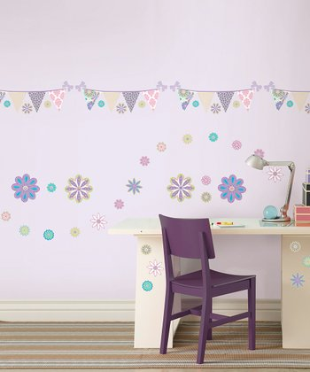 Patchwork Daisy Blox Wall Decal Set