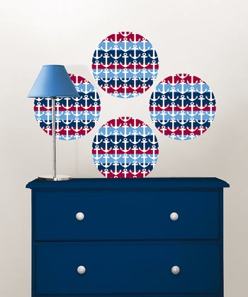 Regatta Dots Wall Decal - Set of Four