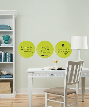 Samara Dots Dry-Erase Board Wall Decal - Set of Three