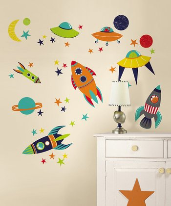 Blast Off Wall Decal Set