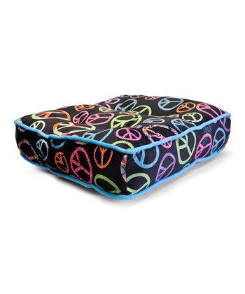 Neon Peace Floor Cushion