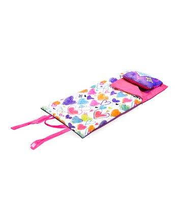 Bright Hearts Velboa Sleeping Bag & Pillow