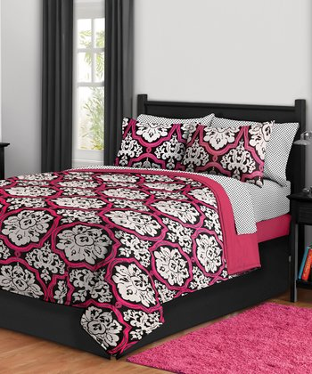 Dotted Damask Bedding Set