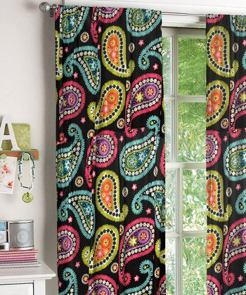 Neon Paisley Window Panel - Set of Two