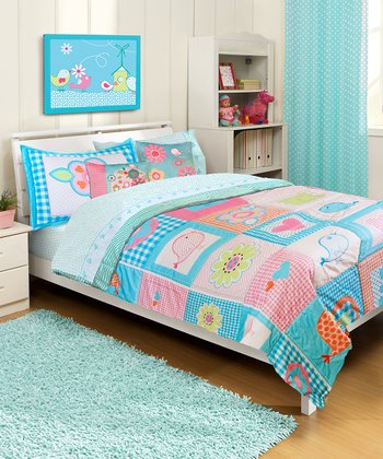 Patchwork Owl Quilt Set