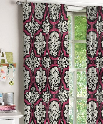 Urban Damask Window Panel - Set of Two