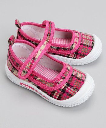 Mooshu Trainers - Plaid Mary Jane Squeaker Shoe