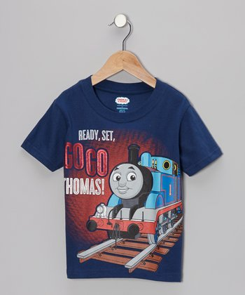 Navy Thomas 'Ready, Set' Tee - Toddler