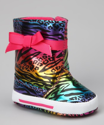 Pink Zebra Lil Rock Star Boot