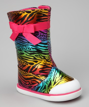 Pink Zebra Rock Star Boot